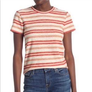 madewell / shrunken tee bonds marigold striped nwt